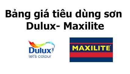 Bàng giá tiêu dùng sơn Dulux & Maxilite mới nhất tháng 5-2021