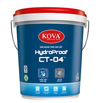 Sơn Ngoại Thất Chống Thấm Kova HydroProof CT-04 Bề Mặt Bóng 4Kg