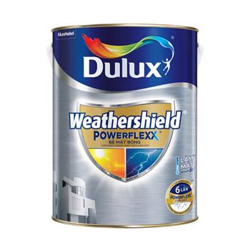 Dulux Weathershield Powerflexx (Trắng)- Bề mặt bóng 5 lít