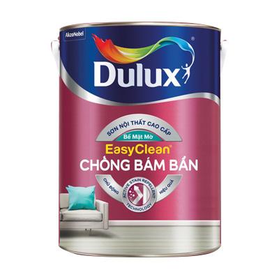 Sơn Nước Nội Thất Dulux EasyClean Chống Bám Bẩn (Trắng) - Bề Mặt Mờ 5 Lit