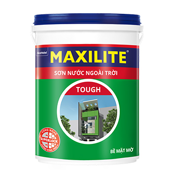 Sơn Nước Ngoài Trời Maxilite Tough (Trắng/Màu Chuẩn) 18l - Bề Mặt Mờ