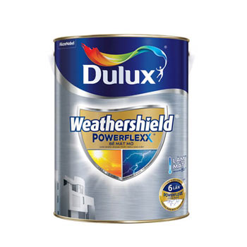 Dulux Weathershield Powerflexx (màu pha)  - Bề mặt mờ 5 lít