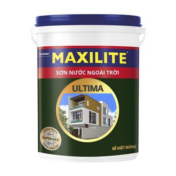 Sơn Nước Ngoài Trời Maxilite Ultima  (Trắng/Màu Chuẩn) - Bề Mặt Bóng 5l