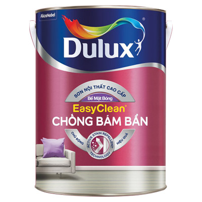 Sơn Nước Nội Thất Dulux EasyClean Chống Bám Bẩn (Màu Pha) - Bề Mặt Bóng 1 Lit