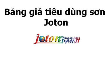 Bảng giá tiêu dùng sơn và bột trét Joton