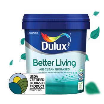 Sơn nội thất gốc sinh học Dulux Better Living Air Clean Siêu Bóng 5L