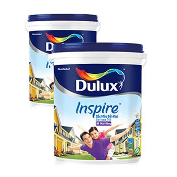 Sơn Ngoại Thất Dulux Inspire (màu trắng) - Bề mặt bóng  18 lít