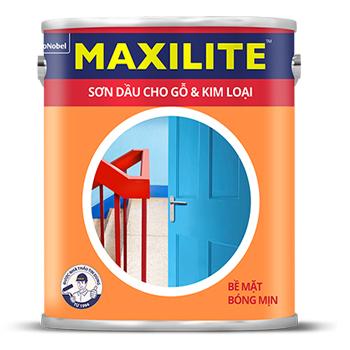 Sơn Dầu Cho Bề Mặt Gỗ và Kim Loại Maxilite (Màu thường) 0.8l