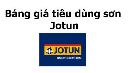 Bảng giá tiêu dùng sơn Jotun tháng 8-2020