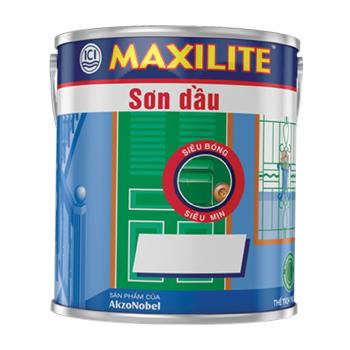 Sơn Dầu Cho Bề Mặt Gỗ và Kim Loại Maxilite (Màu Trắng) 3l