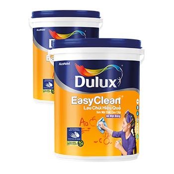 Dulux Easy Clean Lau Chùi Hiệu Quả (Màu Pha)- Bề mặt bóng 5l