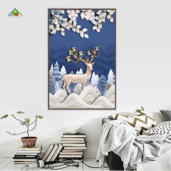 Tranh Canvas Đơn Chữ Nhật Đứng PTCL6090 0045